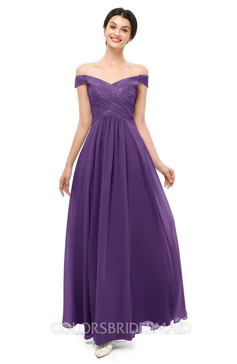 Colsbm Lilith Dark Purple Bridesmaid Dresses Off The Shoulder Pleated Short Sleeve Zip Up A