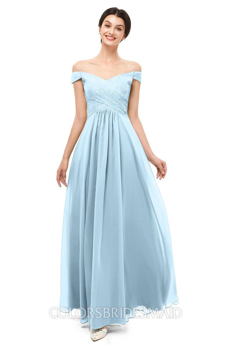 Colsbm Lilith Ice Blue Bridesmaid Dresses Colorsbridesmaid