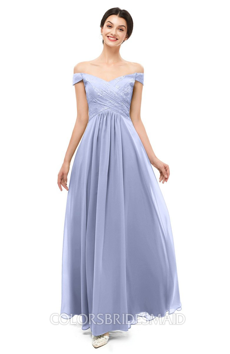 Colsbm Lilith Lavender Bridesmaid Dresses Off The Shoulder Pleated Short Sleeve Zip Up A