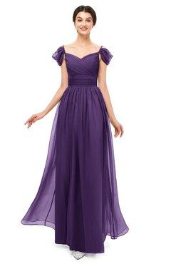 899f3d30eff ColsBM Paula Petunia Bridesmaid Dresses Zipper Sexy Beaded Floor Length  Short Sleeve Spaghetti