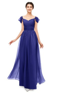 ColsBM Paula Purple Bridesmaid Dresses Zipper Sexy Beaded Floor Length Short Sleeve Spaghetti