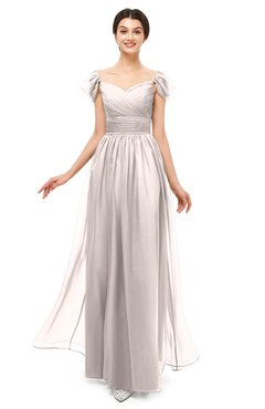 ColsBM Paula Rosewater Pink Bridesmaid Dresses Zipper Sexy Beaded Floor Length Short Sleeve Spaghetti