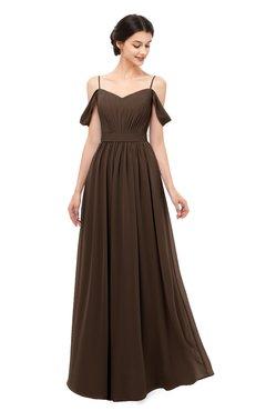 ColsBM Elwyn Copper Bridesmaid Dresses Floor Length Pleated V-neck Romantic Backless A-line