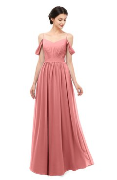 ColsBM Elwyn Lantana Bridesmaid Dresses Floor Length Pleated V-neck Romantic Backless A-line