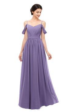ColsBM Elwyn Lilac Bridesmaid Dresses Floor Length Pleated V-neck Romantic Backless A-line