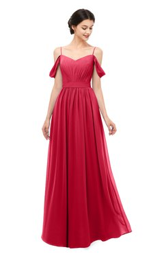 ColsBM Elwyn Lollipop Bridesmaid Dresses Floor Length Pleated V-neck Romantic Backless A-line