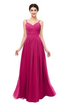 ColsBM Bryn Beetroot Purple Bridesmaid Dresses Floor Length Sash Sleeveless Simple A-line Criss-cross Straps