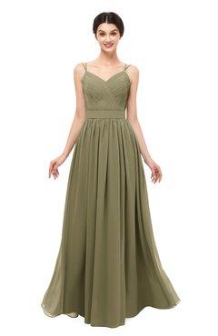 ColsBM Bryn Boa Bridesmaid Dresses Floor Length Sash Sleeveless Simple A-line Criss-cross Straps