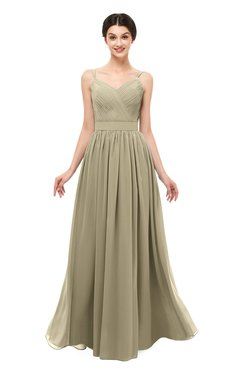ColsBM Bryn Candied Ginger Bridesmaid Dresses Floor Length Sash Sleeveless Simple A-line Criss-cross Straps