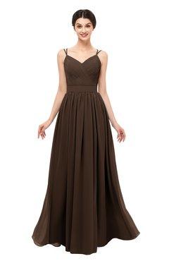 ColsBM Bryn Copper Bridesmaid Dresses Floor Length Sash Sleeveless Simple A-line Criss-cross Straps