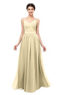ColsBM Bryn Cornhusk Bridesmaid Dresses Floor Length Sash Sleeveless Simple A-line Criss-cross Straps