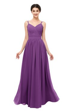 ColsBM Bryn Dahlia Bridesmaid Dresses Floor Length Sash Sleeveless Simple A-line Criss-cross Straps