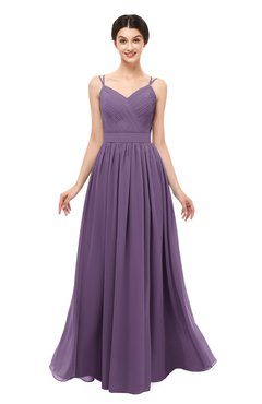 ColsBM Bryn Eggplant Bridesmaid Dresses Floor Length Sash Sleeveless Simple A-line Criss-cross Straps