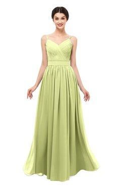 102234569133 ColsBM Bryn Lime Green Bridesmaid Dresses Floor Length Sash Sleeveless  Simple A-line Criss-