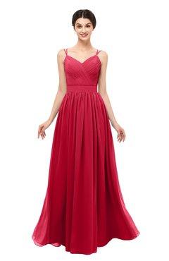 ColsBM Bryn Lollipop Bridesmaid Dresses Floor Length Sash Sleeveless Simple A-line Criss-cross Straps