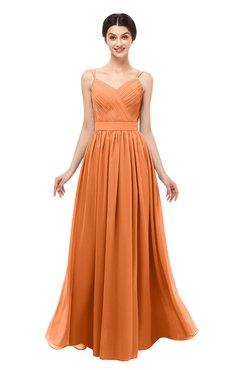 ColsBM Bryn Mango Bridesmaid Dresses Floor Length Sash Sleeveless Simple A-line Criss-cross Straps