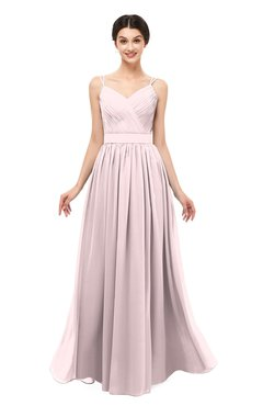 ColsBM Bryn Petal Pink Bridesmaid Dresses Floor Length Sash Sleeveless Simple A-line Criss-cross Straps