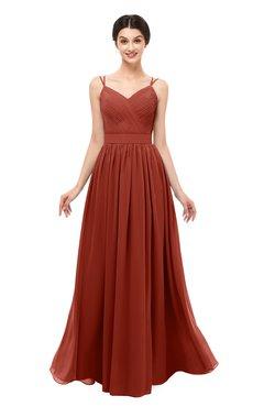 69bc94a6dc ColsBM Bryn Rust Bridesmaid Dresses Floor Length Sash Sleeveless Simple A-line  Criss-cross
