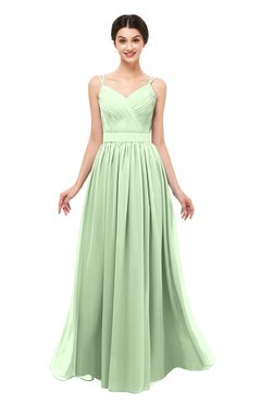 ColsBM Bryn Seacrest Bridesmaid Dresses Floor Length Sash Sleeveless Simple A-line Criss-cross Straps