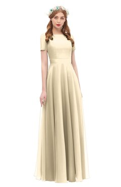 ColsBM Morgan Angora Bridesmaid Dresses Zip up A-line Traditional Sash Bateau Short Sleeve