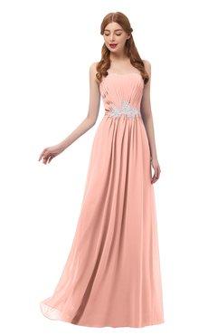 2be1e7c063 ColsBM Jess Peach Bridesmaid Dresses Sleeveless Appliques Strapless A-line  Zipper Modern