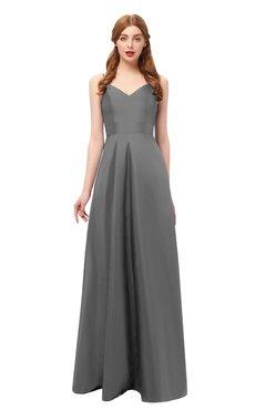 d2b9b1067992 ColsBM Aubrey Grey Bridesmaid Dresses V-neck Sleeveless A-line Criss-cross  Straps