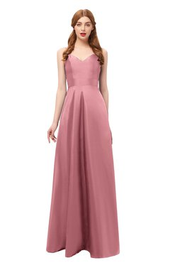 ColsBM Aubrey Mauveglow Bridesmaid Dresses V-neck Sleeveless A-line Criss-cross Straps Sash Classic