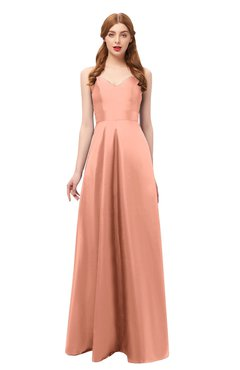 df86cf16d5fa ColsBM Aubrey Salmon Bridesmaid Dresses V-neck Sleeveless A-line Criss-cross  Straps