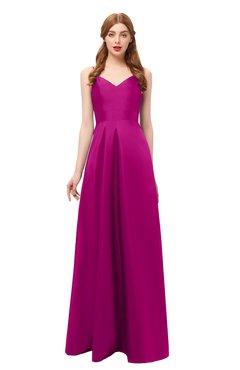 ColsBM Aubrey Sangria Bridesmaid Dresses V-neck Sleeveless A-line Criss-cross Straps Sash Classic