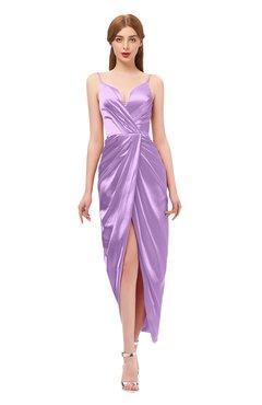 dcdd66b7f3e3 ColsBM Harlow Begonia Bridesmaid Dresses Spaghetti Sleeveless Glamorous  Hi-Lo Pleated Column