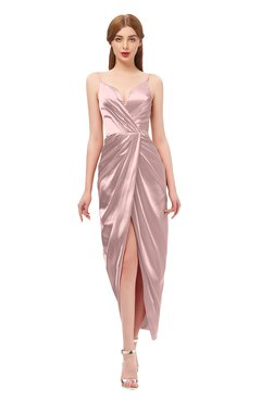 73f7c375042fe ColsBM Harlow Blush Pink Bridesmaid Dresses Spaghetti Sleeveless Glamorous  Hi-Lo Pleated Column