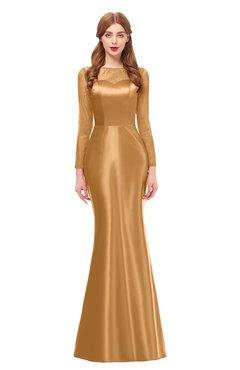 ColsBM Kenzie Butterum Bridesmaid Dresses Trumpet Lace Bateau Long Sleeve Floor Length Mature