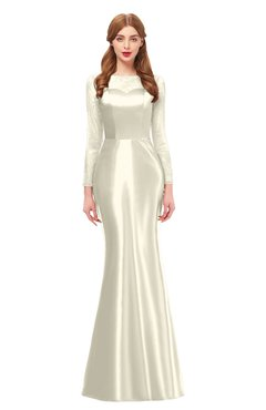 ColsBM Kenzie Egret Bridesmaid Dresses Trumpet Lace Bateau Long Sleeve Floor Length Mature