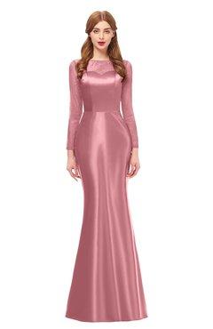 ColsBM Kenzie Mauveglow Bridesmaid Dresses Trumpet Lace Bateau Long Sleeve Floor Length Mature