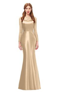 83c948a007 ColsBM Kenzie Mellow Buff Bridesmaid Dresses Trumpet Lace Bateau Long  Sleeve Floor Length Mature