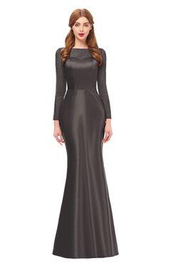 cbbd1d288a ColsBM Kenzie Pewter Bridesmaid Dresses Trumpet Lace Bateau Long Sleeve Floor  Length Mature