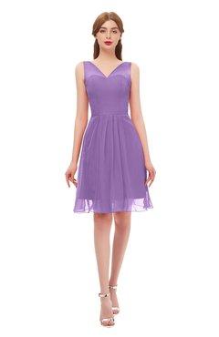 ColsBM Sage Hyacinth Bridesmaid Dresses Zip up Knee Length Cute Sleeveless V-neck Ruching