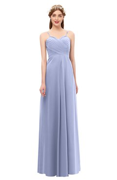 ColsBM Andrea Lavender Bridesmaid Dresses Sexy Zipper Sleeveless Pleated Floor Length A-line