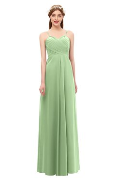8af8f1bc2395e ColsBM Andrea Sage Green Bridesmaid Dresses Sexy Zipper Sleeveless Pleated Floor  Length A-line
