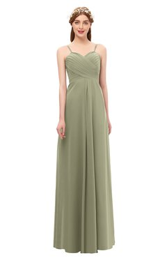 ColsBM Andrea Sponge Bridesmaid Dresses Sexy Zipper Sleeveless Pleated Floor Length A-line