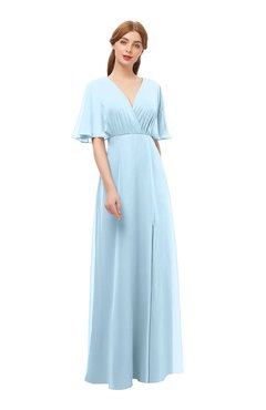 3f16a6dc50b ColsBM Dusty(189 colors). List Price  US 250.00. Special Offer  US 99.99. ColsBM  Raven Ice Blue Bridesmaid Dresses Split-Front Modern Short Sleeve Floor ...