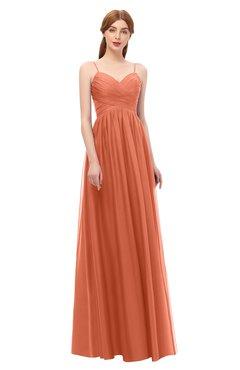 ColsBM Rian Flamingo Bridesmaid Dresses Sleeveless Ruching A-line Glamorous Half Backless Spaghetti
