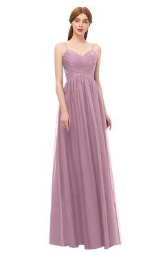 ColsBM Rian Lilas Bridesmaid Dresses Sleeveless Ruching A-line Glamorous Half Backless Spaghetti