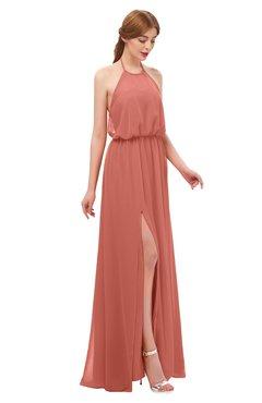 ColsBM Jackie Crabapple Bridesmaid Dresses Casual Floor Length Halter Split-Front Sleeveless Backless