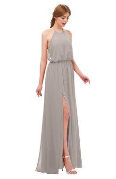 ColsBM Jackie Fawn Bridesmaid Dresses Casual Floor Length Halter Split-Front Sleeveless Backless