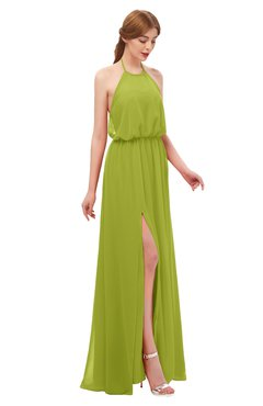 cd1b4f973836c ColsBM Jackie Green Oasis Bridesmaid Dresses Casual Floor Length Halter  Split-Front Sleeveless Backless
