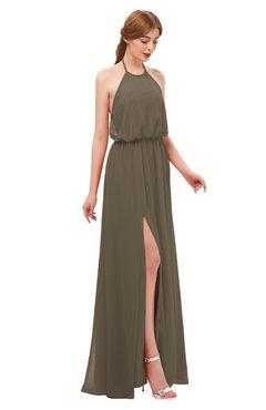 ColsBM Jackie Otter Bridesmaid Dresses Casual Floor Length Halter Split-Front Sleeveless Backless