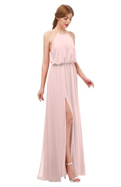 ca0c430fda ColsBM Jackie Pastel Pink Bridesmaid Dresses Casual Floor Length Halter  Split-Front Sleeveless Backless
