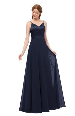 ColsBM Ocean Peacoat Bridesmaid Dresses Elegant A-line Backless Floor Length Sleeveless Sash
