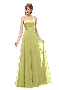 ColsBM Ocean Pistachio Bridesmaid Dresses Elegant A-line Backless Floor Length Sleeveless Sash